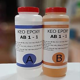 Keo Epoxy AB 2 thành phần dán gỗ, sắt, nhựa, đá..- 2KG (Gồm A & B)