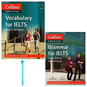 Combo Collins Grammar For IELTS (Kèm CD) và Collins English For Exams - Vocabulary For IELTS (Kèm CD) ( Tặng Kèm Viết )