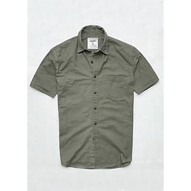 Áo sơ mi nam tay ngắn vải Oxford cao cấp phù hợp công sở trắng ND014