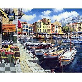 Tranh ghép hình 1000 mảnh giấy Cassis Cafe 50x75cm