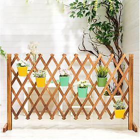 Hàng rào gỗ có thể gấp gọn hay kéo dài tới 200cm để trang trí ban công và sân vườn