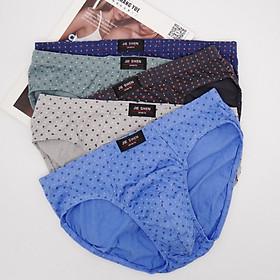 Combo 5 quần lót nam cotton, quần sịp nam tam giác giá rẻ với lưng thun co giãn thoải mái, vải thấm hút mồ hôi