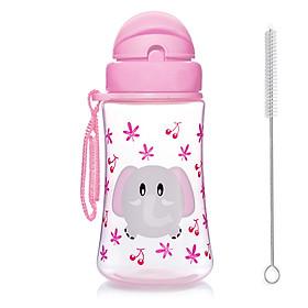 Bình uống nước cho bé Upass 300ml có ống hút mềm + tặng kèm cọ rửa ống hút