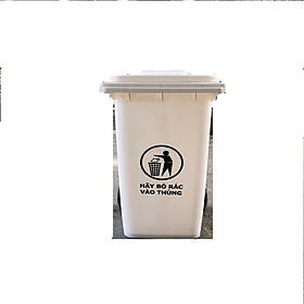 Hình ảnh Thùng rác nhựa 120L màu trắng