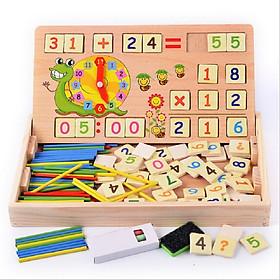 Bảng học toán đa năng có que tính và đồng hồ -HH1119