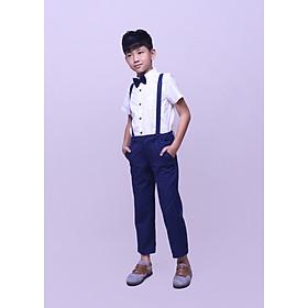 Quần dài vest bé trai yếm xanh navi Jadiny TQD001