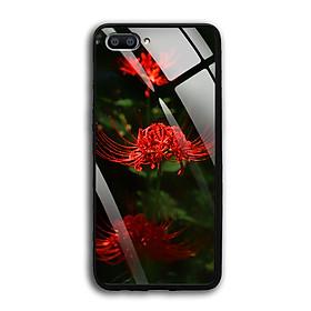 Ốp Lưng Kính Cường Lực cho điện thoại Realme C1 - 03040 0593 HOABINGAN04 - In hình Hoa Bỉ Ngạn - Hàng Chính Hãng