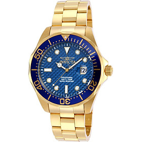 """Invicta Men's 14357 """"Pro Diver"""" 18k Gold Ion-Plated Watch"""