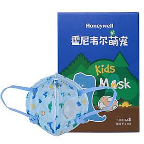 Khẩu Trang Trẻ Em In Hình Khủng Long Honeywell H960VXS (Hộp 3 Cái)