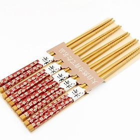 Hình ảnh Bộ 5 đôi đũa trang trí hoa văn - Hàng Nội Địa Nhật