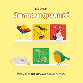Combo 3 cuốn truyện tranh Ehon Nhật Bản - Ehon Âm thanh quanh bé (Leng Keng, Ùm Bò, Tùng Tùng) - Dành cho trẻ 0-6 tuổi