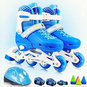 Giày patin trẻ em thời trang có đèn led - Đầy đủ bảo hộ và phụ kiện
