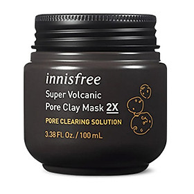Mặt Nạ Đất Sét Innisfree Super Volcanic Pore Clay Mask (3.38 Oz/100ml)