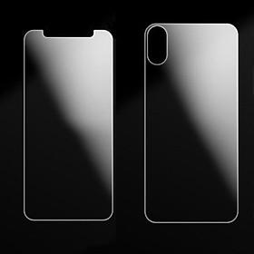 Kính Cư�ng Lực Bảo Vệ Màn Hình Ultra Clear HD Chống Trầy Cho iPhone X Trong Suốt (2 Mặt)