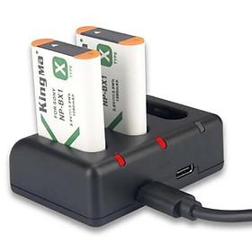 Combo 2 pin 1 sạc ba Kingma for Sony NP-BX1 – Hàng chính hãng