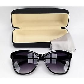 Mắt kính mát nữ thời trang DKY505D tròng Polarized phân cực màu đen khói chống nắng, chống tia UV. Gọng Poly màu đen nhám