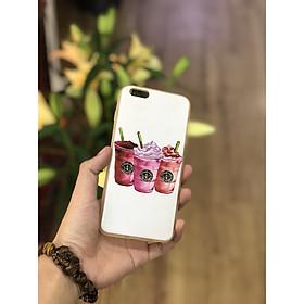 Ốp lưng nhựa iPhone 6 Plus hình trà sữa Starbucks