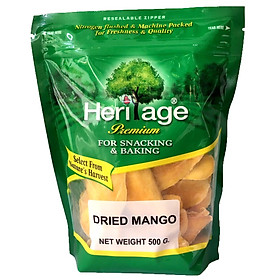 Xoài Sấy Dẻo Heritage Vị chua ngọt hài hòa, giàu Vitamin C - Dried Mango 500gr