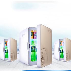 Tủ lạnh mini 2 chiều nóng lạnh 20L Bảo quản mỹ phẩm, Đồ ăn, nước uống, Dùng cả trên Ô tô