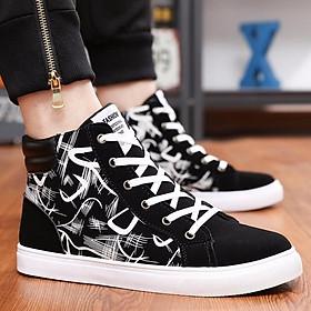 Giày sneaker cao cổ nam họa tiết độc đáo
