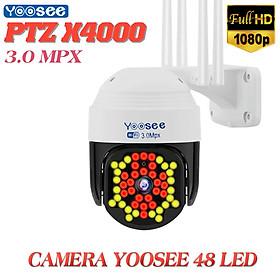 Camera Ip Wifi Yoosee PTZ X4000 48 LED 1080P , Xem đêm có màu , đàm thoại 2 chiều , Cảnh báo đột nhập , Camera ngoài trời chống nước IP66 - Hàng Chính Hãng