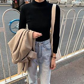 Áo len nữ chất len gân