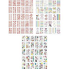 770 Hình xăm dán tatoo mặt cười icon emoji vui nhộn võ tắc thiên dán tay mặt trán