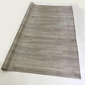 Thảm nhựa simili trải sàn vân gỗ màu xám