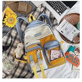 Balo nữ DOUCIYUAN đi học laptop chống nước thời trang cặp Ulzzang sách học sinh sinh viên (tặng sticker bò sữa)