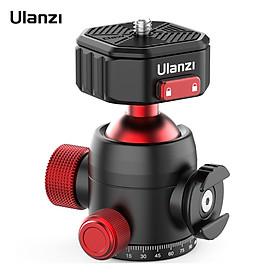 Ulanzi U100 Claw Quick Release Panoramic Ball Head Tripod Ballhead Adapter 360° Rotation 20KG Load Capacity with Cold