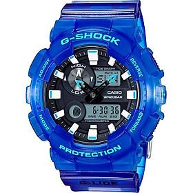 Đồng Hồ Nam  Dây Cao Su Casio G-Shock-Gax-100Msa-2Adr-Tròn Nam Đen Kim Hình Điện Tử