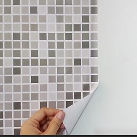 1M2 DECAL GẠCH MOSAIC PVC VÂN 3D CHỐNG NƯỚC