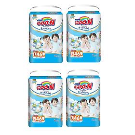 Combo 4 Gói  Tã Quần Goo.n Premium Gói Cực Đại L46 (46 Miếng)