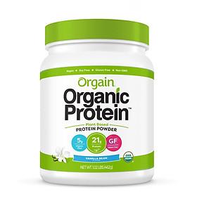 Bột Protein thực vật hữu cơ Orgain Organic Protein Greens 462g hương vani