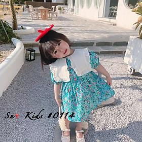 Váy đi học ngắn tay xinh yêu bé gái