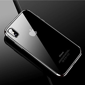 360° Shockproof Fashion Ultra Thin Slim Plating TPU Back Case Transparent Anti-scratch Protective Case for iPhone X