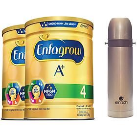 Combo 2 Lon Sữa Bột Enfagrow A+ 4 1.7kg - Tặng Phích Giữ Nhiệt Elmich Inox 500ml