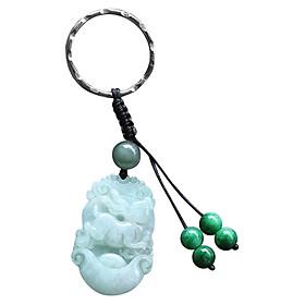 Móc Khóa 12 Con Giáp Cẩm Thạch - Tuổi Mão Ngọc Quý Gemstones MK22