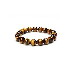 Hình đại diện sản phẩm Vòng đeo tay nữ hợp mệnh Kim, mệnh Thổ Vòng đá Mắt hổ Nâu vàng Vòng tay tỳ hưu đá
