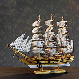 Mô hình thuyền buồm FJ45A4 trắng size 43cm