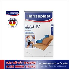 Băng cá nhân Hansaplast Elastic gói 100 miếng