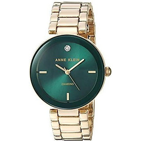 Đồng hồ nữ Anne Klein Women's Genuine Diamond Dial Bracelet Watch - Gold/Green