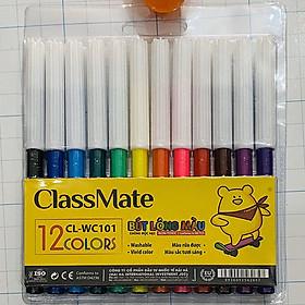 Vỉ Bút Lông Màu Classmate WC101 - 12 Màu