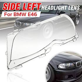 Left Side Headlight Headlamp Lens Cover For BMW E46 4DR Sedan Saloon FL 2001-06