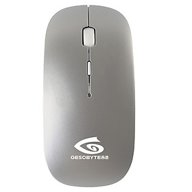 Kyrgyzstan election (GESOBYTE) B10 rechargeable Bluetooth mute wireless mouse shiny silver silent version of the polymer lithium battery light and portable