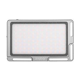 Tâm Đèn LED Nhiếp Ảnh Andoer Với Dải Ánh Sáng 3500K - 5700K Pin Đi Kèm (2800mAh) Và Màn Hình Oled (1/4 Inch) Cho Máy Ảnh Dslr/Điện Thoại Thông Minh Xám (96 Bóng LED)