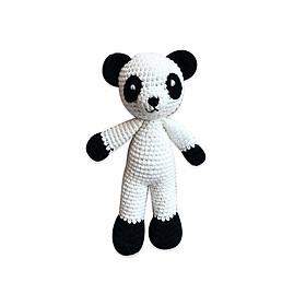 Thú bông bằng len Gấu panda Lular trắng dáng đứng nhí - sản xuất thủ công handmade in Việt Nam - chất liệu 100% cotton, hàng chính hãng xuất khẩu, phù hợp mọi lứa tuổi