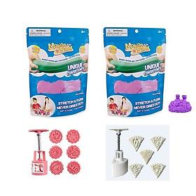 Combo đồ chơi 2 túi cát tạo hình siêu nhẹ Air motion kèm 2 bộ khuôn làm bánh