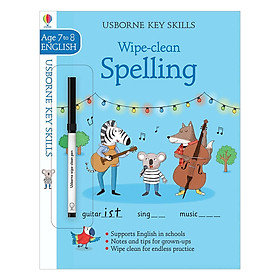 Usborne Key Skills Wipe-Clean: Spelling 7-8