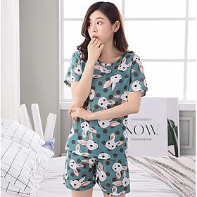 Bộ đồ ngủ nữ ngắn tay  mùa hè  họa tiết dễ thương - AG81